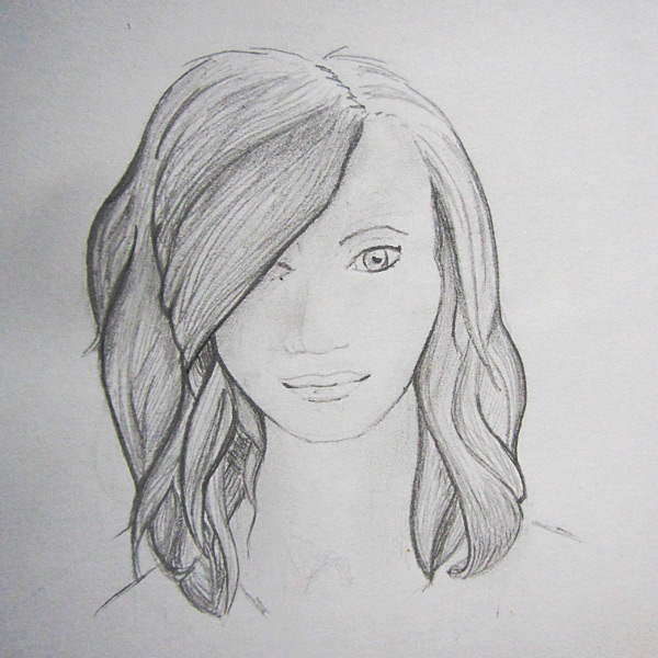 Pretty Woman Face Drawing Pretty Woman Face Drawing